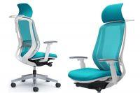 Židle SYLPHY Blue Green Bílý plast