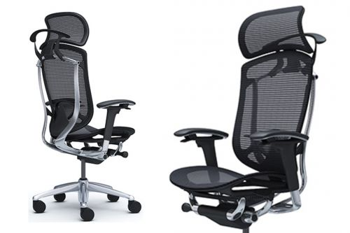 Contessa Seconda Full Mesh Polished Office Chairs
