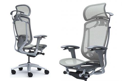 Moderní Kancelářské Židle OKAMURA CONTESSA SECONDA s Šedým Plastem