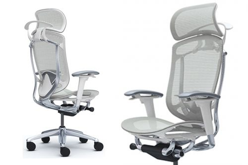 Nejlepší Designové Kancelářské Židle OKAMURA CONTESSA SECONDA s Bílým Plastem