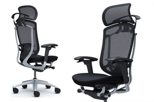Okamura Contessa Seconda Ergonomic Office Black Cushion Chair