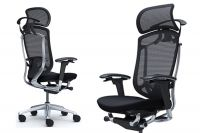 OKAMURA CONTESSA SECONDA Black Upholstered Executive Office Chair