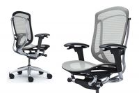 Okamura Contessa Seconda Light grey Full Mesh Office Chair