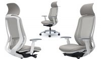 OKAMURA SYLPHY White body Light Grey colour Chair with Headrest
