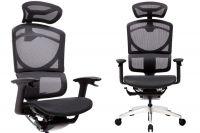 ERREVO UNO Full Black Mesh Ergonomic Office Chair