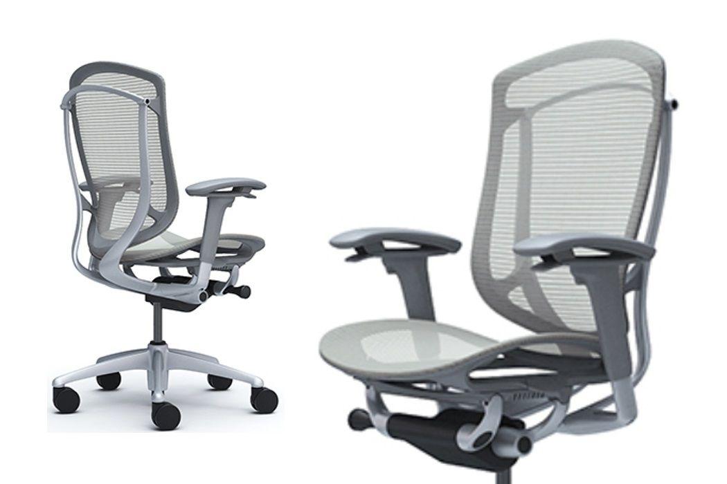 Celosíťovaná Kancelářská Židle a Křesla OKAMURA CONTESSA SECONDA v Světle Šedé Barvě
