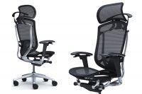Židle CONTESSA 2 Sedák černá Síťovina Leštěný rám