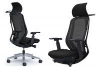 Židle SYLPHY Černá Síť Leštěná