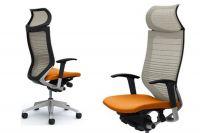 Židle OKAMURA CP Síť Odstupňovaná bilá Sedák Pomerančový