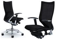 Židle OKAMURA CP Leštěná Sedák černá Síť