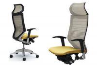 Židle OKAMURA CP Síť Odstupňovaná bilá Sedák Béžový