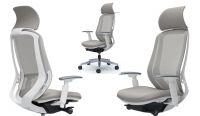 Židle SYLPHY Světle Šedá Bílý plast