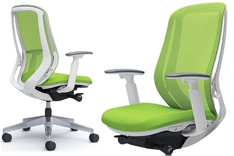 Židle OKAMURA SYLPHY Lime Green Bílý Plast