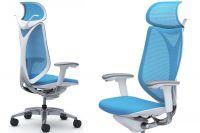 Židle SABRINA SMART Bílý plast Aqua Blue