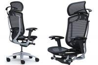 Židle CONTESSA 2 Sedák černá Síťovina Stříbrný rám