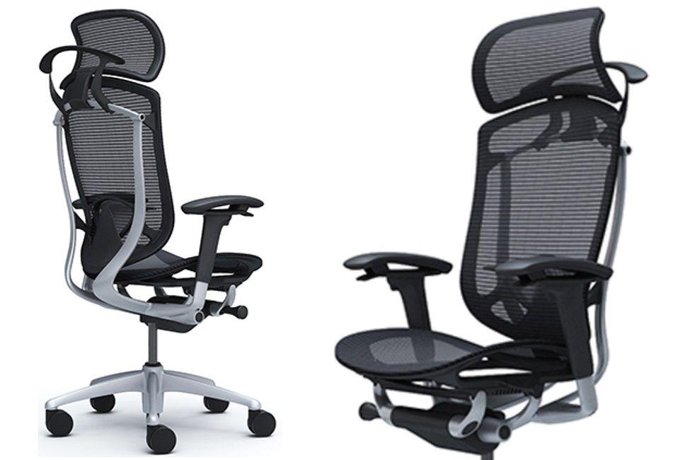 Židle Contessa Seconda s Nastavitelnou Bederní Opěrkou a Sedákem v Černé Síťovině