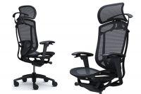 Židle CONTESSA 2 Sedák černá Síťovina Černý rám