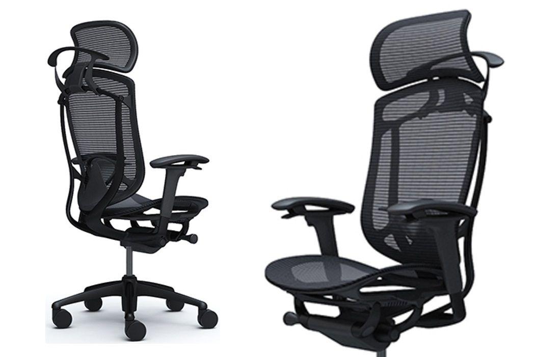 Židle OKAMURA CONTESSA SECONDA se Černým Hliníkovým Rámem