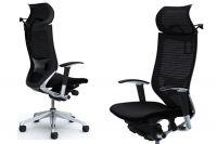 Židle OKAMURA CP s Opěrkou Hlavy, Bederní Opěrkou a Věšákem