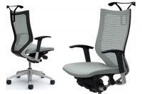 Židle OKAMURA CP Sedák Světle šedá látka Rám stříbrný
