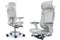 Židle CONTESSA 2 Sedak Světle šedá Síťovina Plast bílý