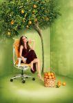 Židle SABRINA SMART Bílý plast Orange