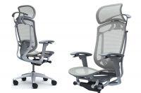 Židle CONTESSA 2 Sedak Světle šedá Síťovina Plast šedý