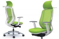 Židle SYLPHY Lime Green Bílý plast