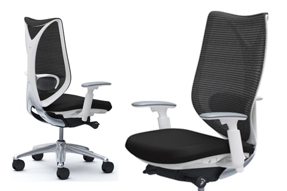 SABRINA STANDARD White body Black Chair