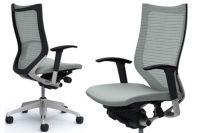Židle OKAMURA CP Stříbrná Sedák Světle šedá Látka