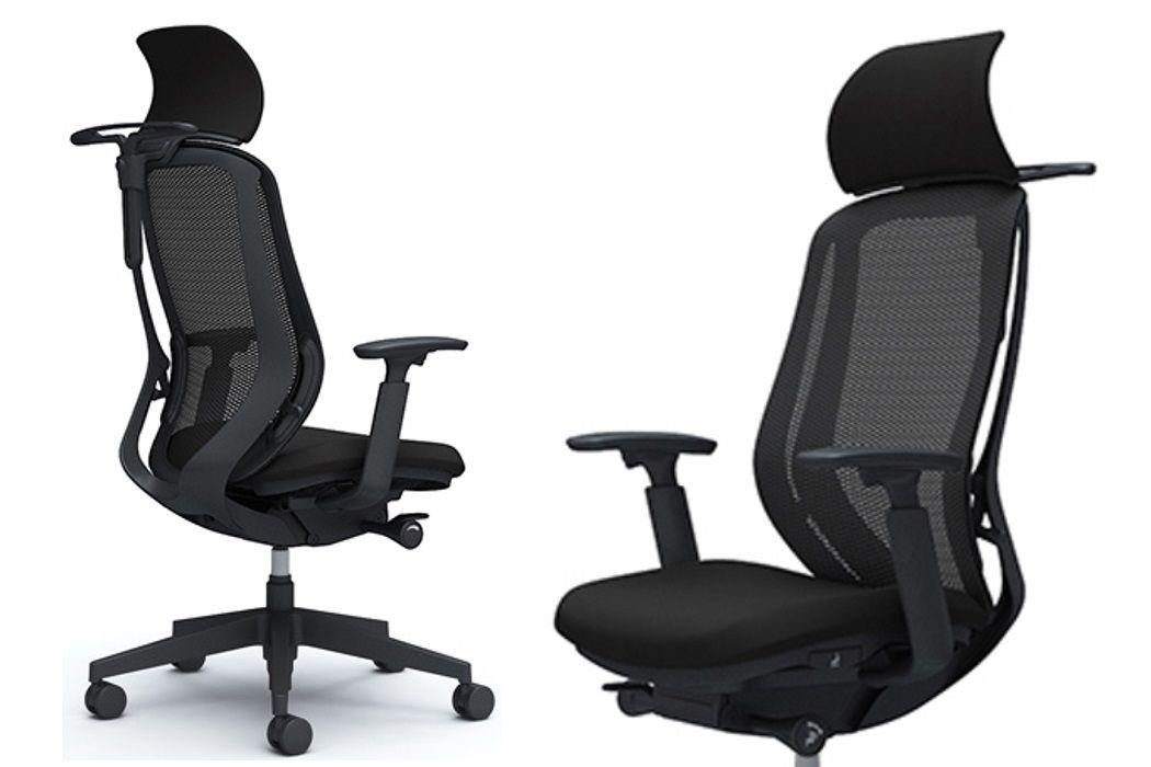 Židle OKAMURA SYLPHY Černá síťovina Černý kříž