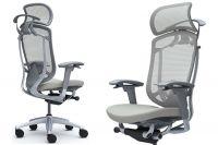 Židle CONTESSA 2 Sedak Světle šedá látka Plast šedý