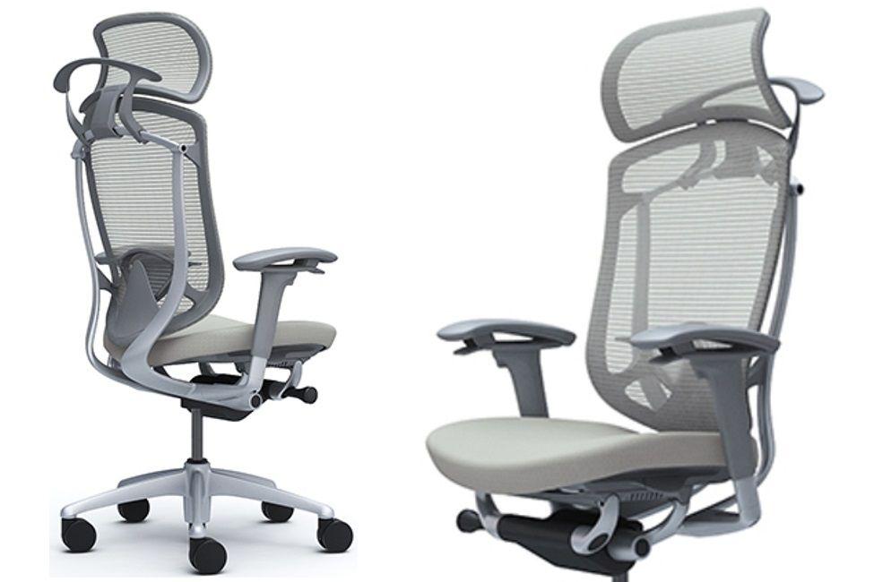 Pohodlná Kancelářská Židle Okamura Contessa Seconda Sedak Světle šedá Látka