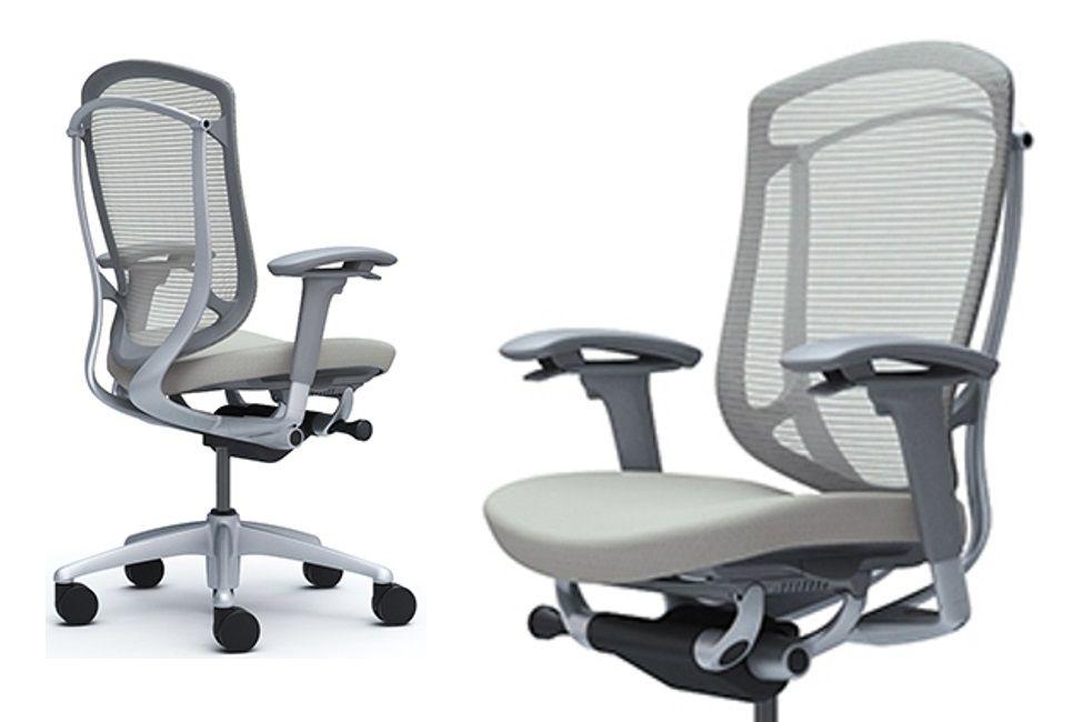 Židle CONTESSA SECONDA Plast šedý Sedak Světle šedá Látka