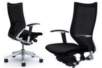Židle OKAMURA CP Leštěný rám Sedák černá Látka